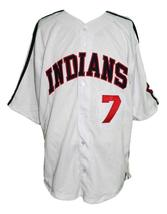 Jake Taylor #7 Major League Movie Button Down Baseball Jersey White Any Size image 1