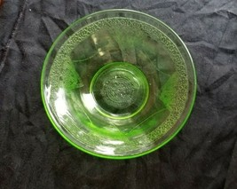 Green Federal Depression Glass Parrot Pattern Berry Bowl - $20.00
