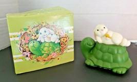 Vintage Avon Woodland Charmers Turtle & Rabbit Mini Pomander Fernerie Fragrance - $12.99