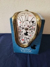 Disney Alice in Wonderland Melting Clock Time Journey Desk Clock Trump - $54.45