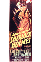 Basil Rathbone and Nigel Bruce in The Adventures of Sherlock Holmes 24x1... - $23.99