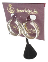 Premier Designs Silver Hoop Earrings Anniversary Jewelry - $18.00