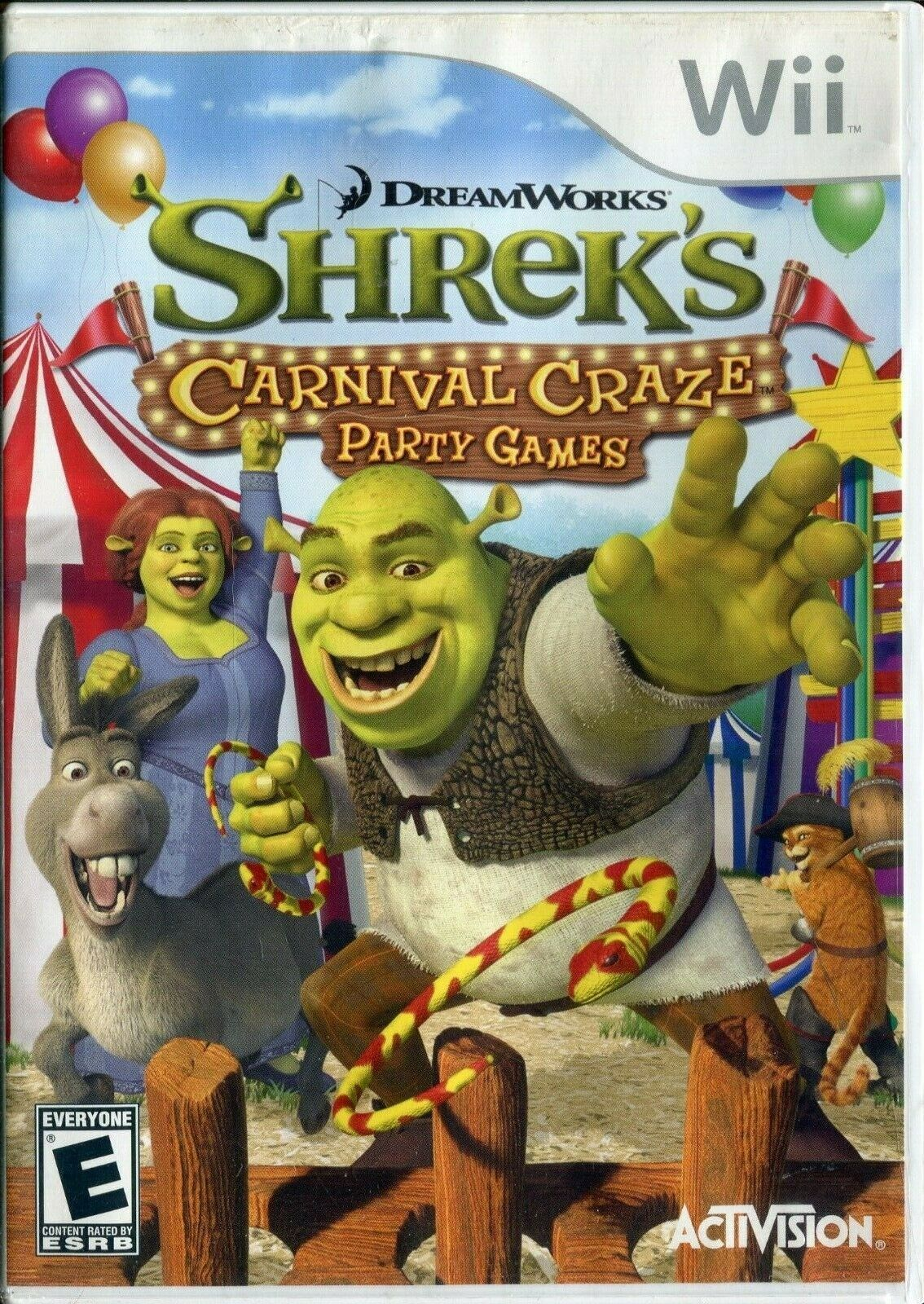 Primary image for Shrek's Carnival Craze Party Games (Nintendo Wii, 2008) No Manual