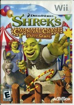 Shrek's Carnival Craze Party Games (Nintendo Wii, 2008) No Manual - $3.46