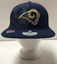 Los Angeles Rams Blue Flat Brim Official On Field Sideline Hat Men's S/M - £11.94 GBP