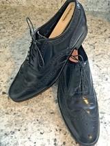 Florsheim Full Brogue Black Wingtip Shoes 608580 Size 9 C - $67.86