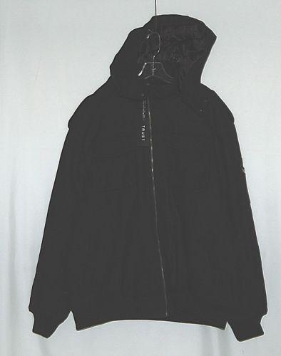 Trust Brand WB170J Wool Nylon 3XL Black Coat Zippered Hooded