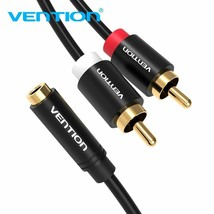 Vention® Headphone Female 3.5mm Jack To 2RCA Male Audio Cable RCA Jack Splitter - $7.12+