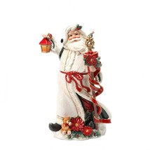 Poinsettia Santa Figurine - $237.60