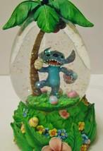 Disney Lilo & Stitch Easter Theme Water Globe Stitch With Eggs & Palm Tree - $74.95