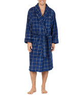Tommy Bahama Men's Soft Plush Robe, Navy Plaid Size S/M - £18.20 GBP