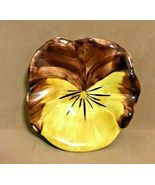 "STANGL POTTERY-- PANSY BUTTER PAT / TEA BAG HOLDER /  TRINKET DISH  4"" - $19.95"