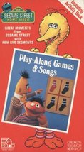 Sesame Street Home Video: Play Along Games and Songs [VHS Tape]
