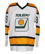 Custom Name # Toledo Goaldiggers Retro Hockey Jersey New White Any Size - $54.99+