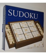 Hawthorne Sudoku Number Strategy Game wood case tray H17 - $27.77