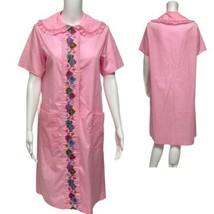 Vintage Mujer Camisón Vintage Bordado Delantero Hecho En Ee.uu. Talla M ... - $31.07