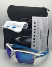 Nuovo Oakley Occhiali da Sole Flak 2.0 XL Oo9188-02 Bianco Frame W/Zaffiro - $219.52