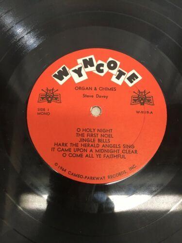 Steve Davey – Organ and Chimes: Wyncote – W-9119 LP Album Vinyl Record Pop