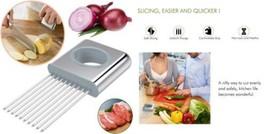 Hulless Stainless steel Onion Holder For Slicing,Vegetable Potato Cutter... - €11,29 EUR