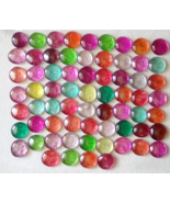 400 Assorted Round Flat Back Glass Glittered Gems and Glow in the Dark Gems - $26.00