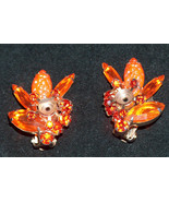 Vintage Retro Mid Century Clip On Earrings Costume Jewelry Unmarked - $13.78