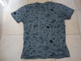 Nike Air Apparel All Over Print Dark Gray Soft T Shirt Size L - $25.83