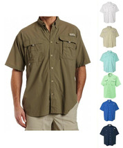 New Columbia Men Bahama Short Sleeve Shirts, XS-S-M-L-XL-XXL - $31.90+