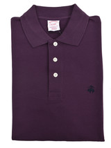Brooks Brothers Mens Purple Original Fit Three Button Polo Shirt Small S 3219-4 - $58.32