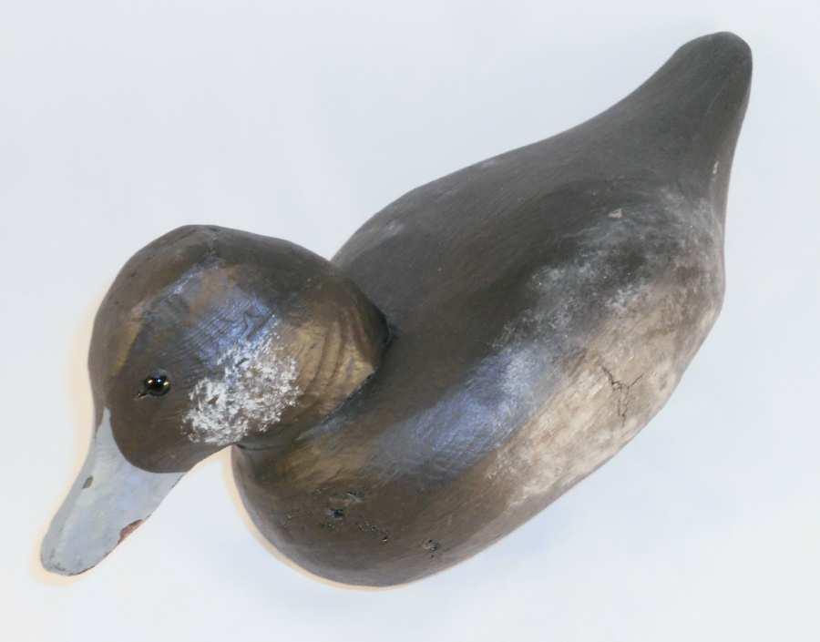 Beautiful Contemporary Ed Pfoutz Carved Wood Bufflehead Duck Decoy Glass Eyes