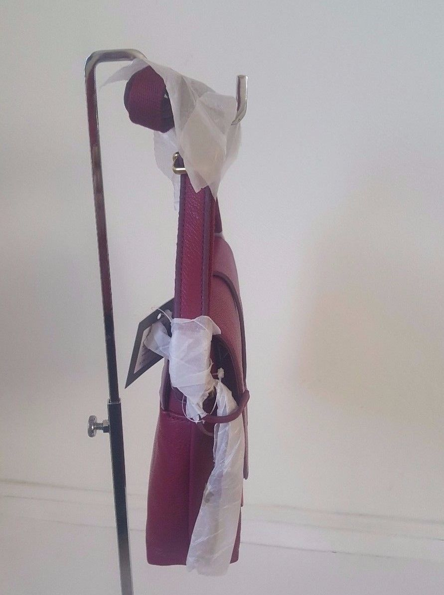 Nwt Fossil Zb7342672 Kinley Small Crossbody And 50 Similar Items Brown Raspberry Wine Leather Suede