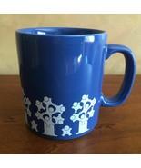 Kiln Craft Children Tree Logo Coffee Mug Blue White Staffordshire England - $15.40