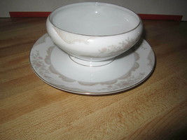 Gravy Boat W/ attached underplate Victoria by Mikasa 8202 - $109.99