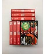 Sony 90 Minutes HF 6 Cassettes TDK D90 Cassette 5 pack New Old Stock 11 ... - $12.99