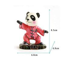 Cute Kongfu Panda Toy Mini Panda Puppet Home Decorations Kids' Gift(Red)
