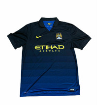Nike Dri-Fit Etihad Airways Mancester City MCFC 2014-15 Soccer Jersey La... - $47.53