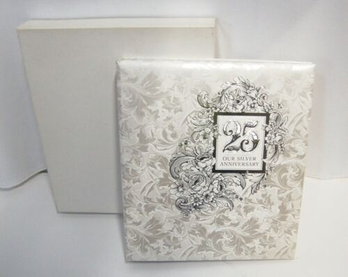 Hallmark AA2018 25th Our Silver Anniversary Refillable Keepsake Album 3 Rings