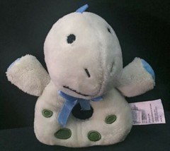 Koala Baby Green Dinosaur Lovey Rattle Plush Stuffed Animal Toy Manipulative - $9.89