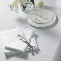Uni Gewebt Weiß quadratische Tischdecke 132cm x (132cm 132cm) & 4 Servietten - $31.30