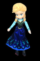 "Disney Plush Frozen Anna Doll Blue Dress Plastic Face Stuffed Toy 16"" Ju... - $12.38"