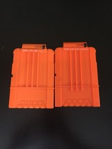 Lot Of 2 Nerf Dart Gun Ammo Magazine Clips Holds 6 Darts Free Shipping - $12.86