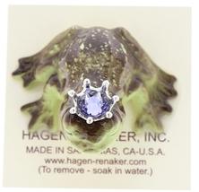 Hagen-Renaker Miniature Frog Prince Kissing Birthstone 06 June Alexandrite image 5