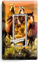 WILD PRAIRIE HORSES BEAUTIFUL SOUTHWEST SUNSET ` GFI LIGHT SWITCH PLATE ... - $10.99