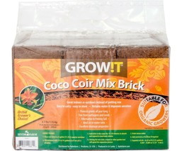 GROW!T JSCPB - Coco Coir Mix Brick (Pack of 3), Brown - Protects Plants ... - $44.54
