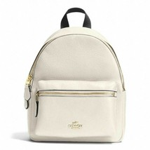 New Coach 38263 mini Charlie Pebble Leather small Backpack Chalk - $119.00