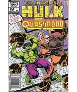 Incredible Hulk vs Quasimodo Comic Book #1 Canadian Variant 1983 VERY FINE+ - £5.38 GBP