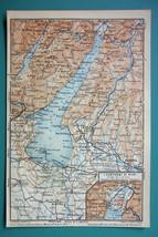 1905 MAP Baedeker - ITALY Lake Garda Lago di garda - $6.71