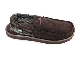 Sanuk Men's SKIPJACK Hookie Brown Slip On Casual Sidewalk Surfer Loafer SMF10260 - $39.99
