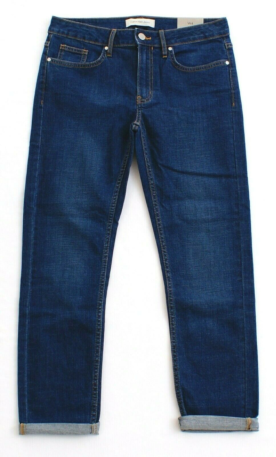 Calvin Klein Jeans Blue Denim Slim Boyfriend Stretch Jeans Pants Women's NWT - $59.99