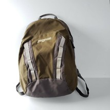 Jansport Backpack TJN2 Olive Green and Gray Student Hiking Unisex - $29.99