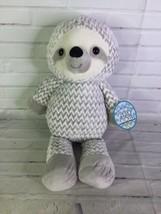 KellyToy Sloth Chevron Print Plush Stuffed Animal Gray White Sugar Loaf Toy NEW - $47.51